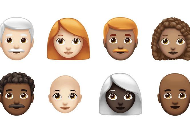 apple показала выглядеть новые эмодзи наконец-то темнокожих рыжими