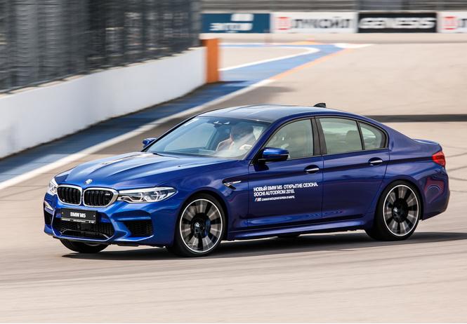 Тест BMW M5, машины по превращению резины в дым