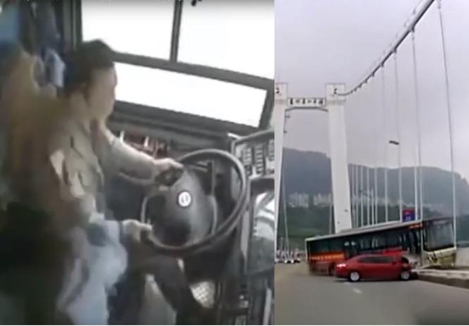 Неадекватная пассажирка автобуса спровоцировала аварию, в которой погибли 13 человек (видео)