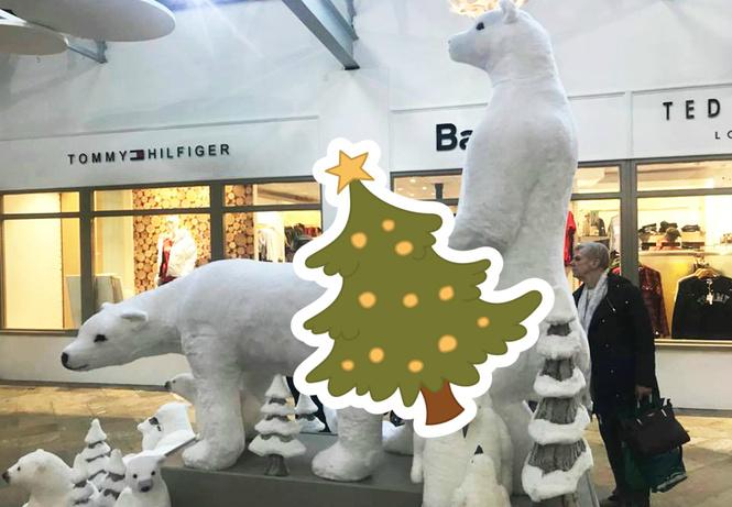 Торговый центр извинился за скульптуры с белыми мишками. Они получились слишком эротичными