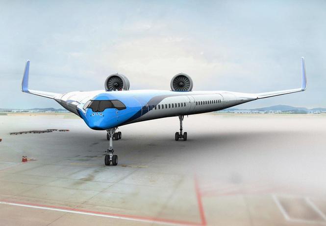 авиакомпания klm показала концепт самолета летающее крыло грозится