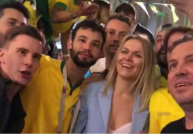 бразильские фанаты спели москвичке неприличную песню выложили видео