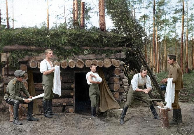 раскрашенных фотографий русских солдат фронтах первой мировой войны