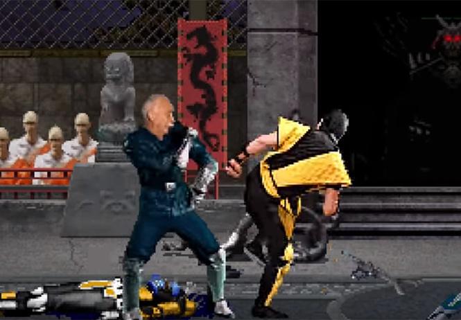 Леонид Якубович избивает противников в игре Mortal Kombat (видео)