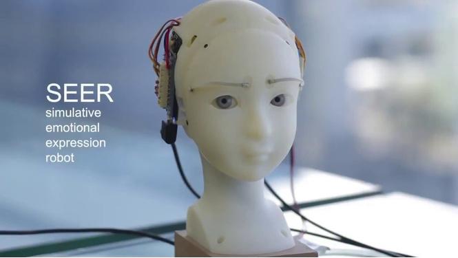 японцы разработали робота полностью повторяет мимику человека видео