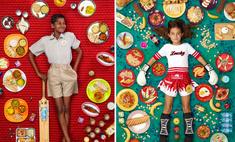 Все, что едят дети в разных странах за неделю,— в 52 фото