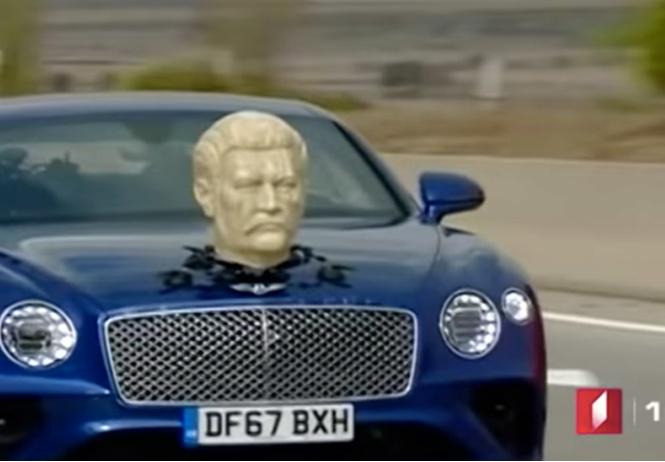 Кларксон ездит на Bentley c гипсовой головой Сталина: видео со съемок нового сезона Grand Tour