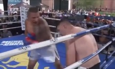 Небитый тяжеловес нокаутирован досрочно в упорном бою (видео)