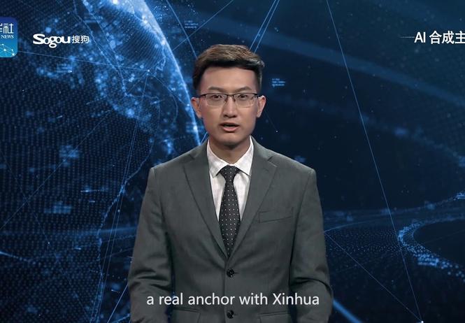 китай показал искусственного ведущего новостей видео