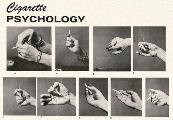 Определить характер человека по тому, как он держит сигарету (ретротест в картинках)