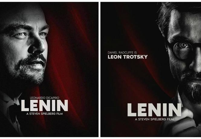 интернет обсуждает фейковые постеры фильму ленин леонардо каприо
