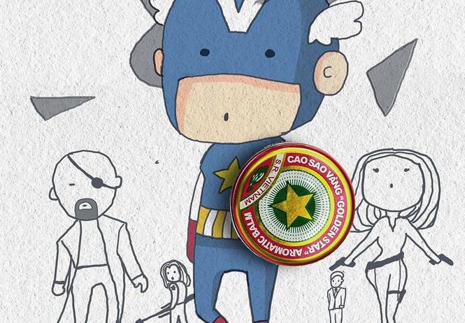художник создает смешные наивные плакаты супергероями marvel подручных