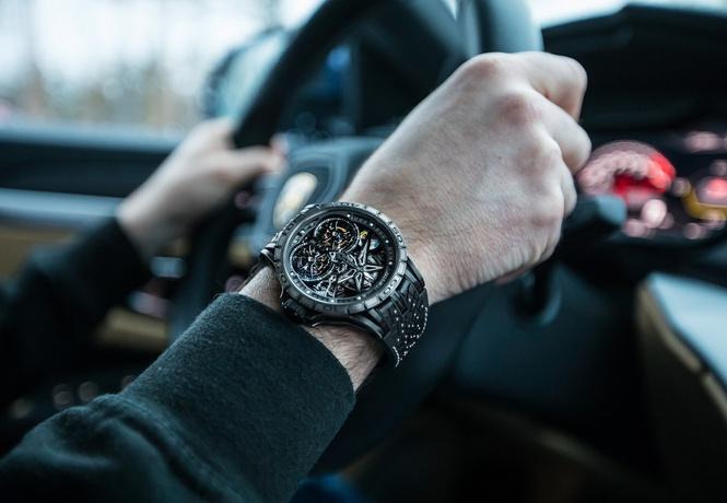 новые зимние шины pirelli вдохновили roger dubuis создание