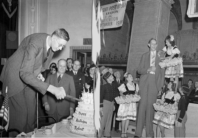 Архивное видео (и фото) самого высокого человека XX века!