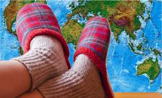 карта показывающая каких странах мира принято снимать обувь
