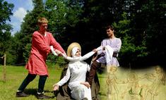 студенты воссоздают средневековые картины подручных средств