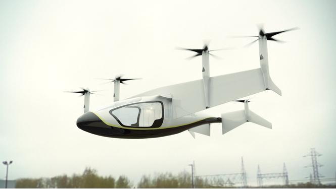 британском авиашоу rolls-royce показал летающее такси видео