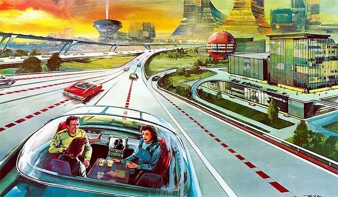 вид будущее америки 50-х глазами артура радебоха иллюстрация