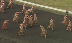В Вашингтоне сотрудники компании устроили забег в костюмах тираннозавров для поддержания корпоративного духа (видео)
