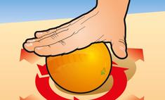 Простой способ очистить апельсин