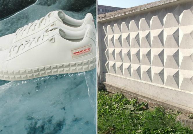 Puma выпустила кроссовки, вдохновленные российскими бетонными заборами