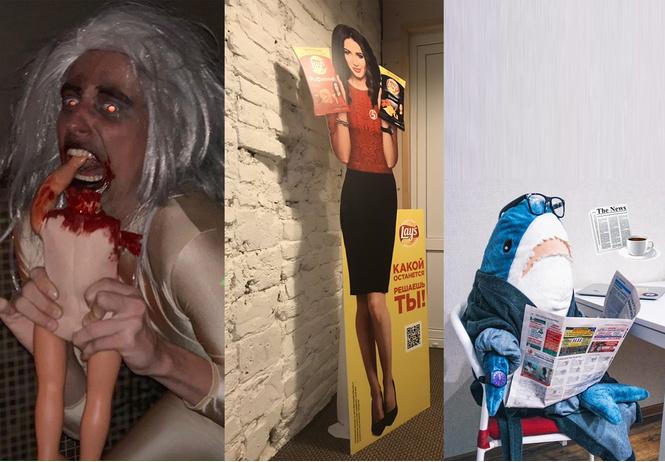 Мемы недели: картонная Бузова, Хеллоуин и акула из IKEA!