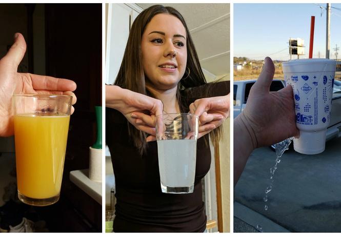 Самые нелепые и нескладные способы держать стакан: 24 фотопримера
