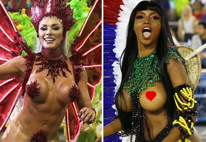 самые горячие участницы бразильского карнавала 2019