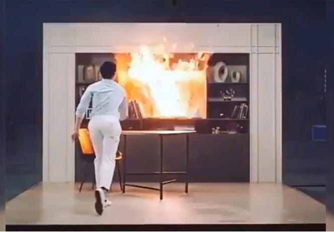 Ручной бросковый огнетушитель-ваза (видео)
