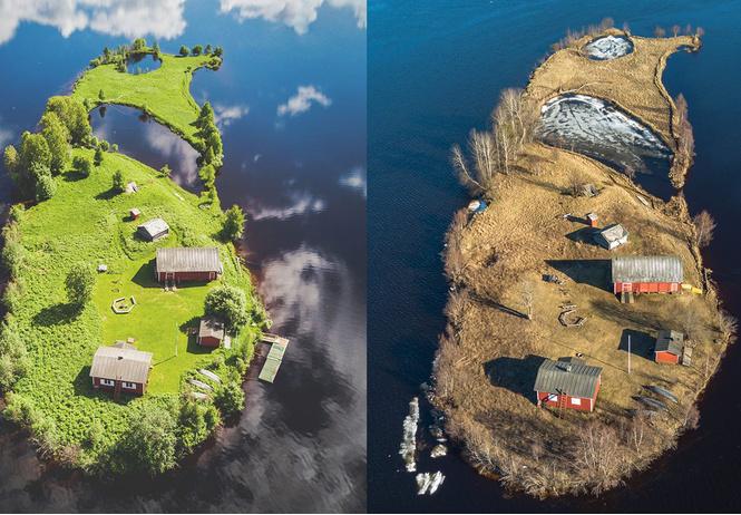 Как выглядит остров Котисаари в разные времена года