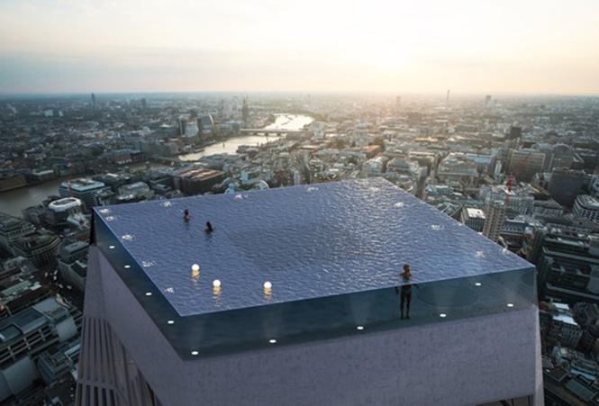 Интернет озадачен бассейном на крыше, из которого невозможно вылезти