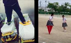 В новом челлендже «Пройди милю» люди ходят, нацепив на ноги предметы обихода, и он максимально странный (видео)