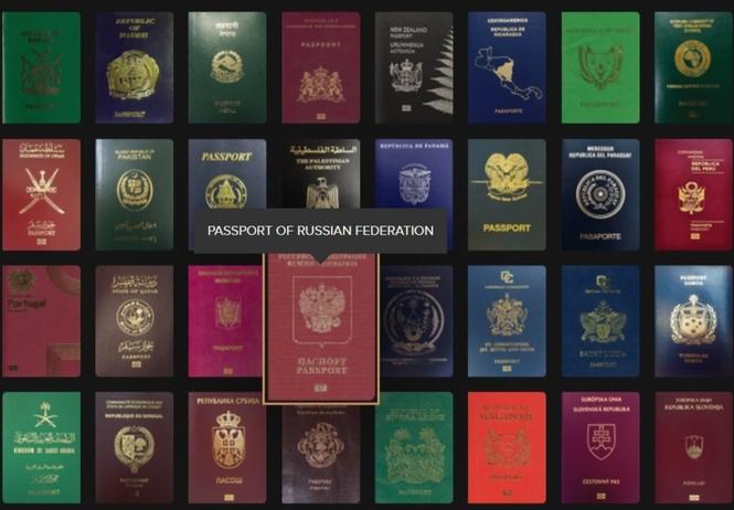 сайт недели обложки паспортов стран мира