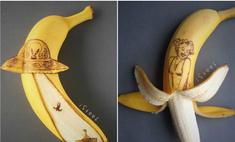 Назло мрамору: скульптор отсекает лишнее от бананов (галерея)