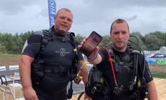 дайверы сняли видео айфон пролежал дне озера