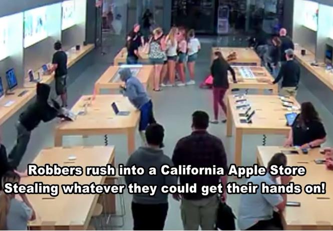Подростки ограбили Apple Store на 27 000 долларов всего за полминуты (ВИДЕО)