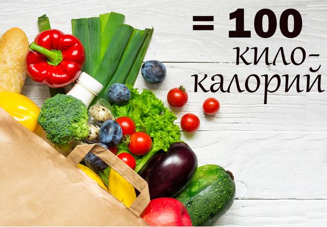 Вот сколько еды помещается в 100 килокалориях (39 наглядных фото)