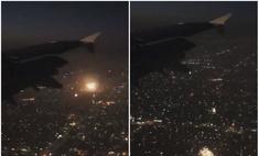 Твит дня: вид на тысячи фейерверков из иллюминатора самолета (видео)