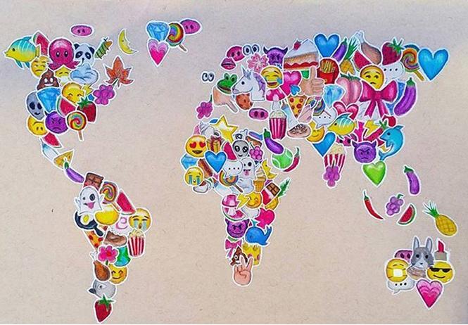 определены самые популярные эмодзи разных языках мира