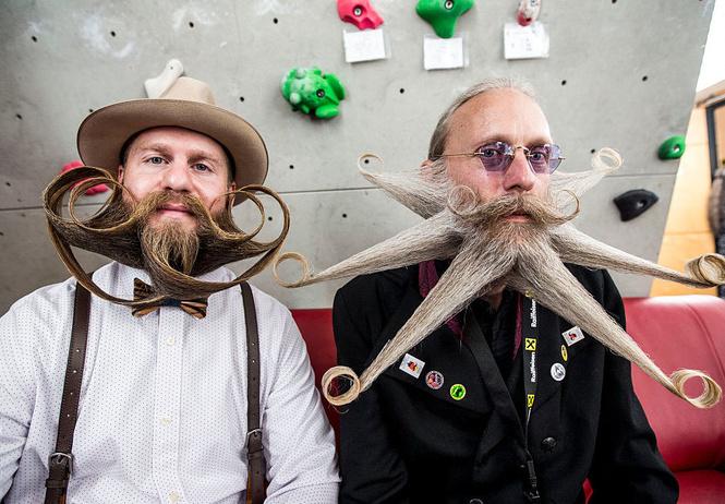 самые вычурные участники мирового чемпионата бород усов разных