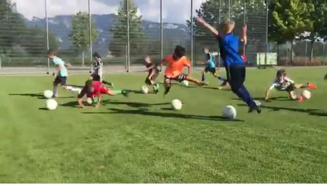 тренировка молодёжной сборной неймаров футболу видео