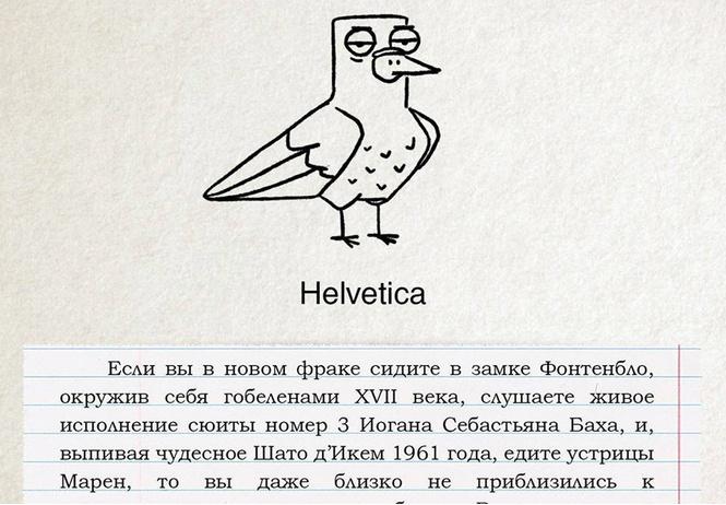 голуби шрифтами смешные познавательные иллюстрации российского художника