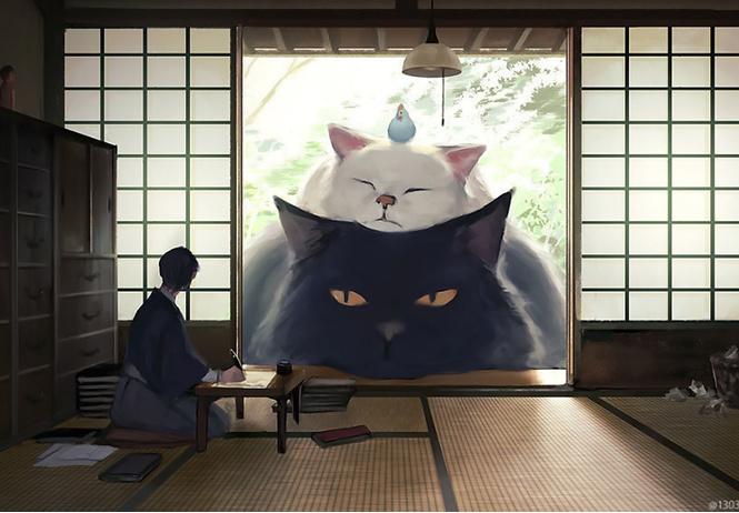 художник недели умиротворенные гигантские зверушки японца ariduka55