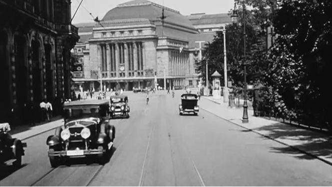 Съёмки на «автомобильный регистратор» в 1931 году в Лейпциге (видео для медитации)