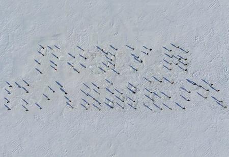 В Екатеринбурге 100 танцоров выстроились на льду в нецензурную надпись