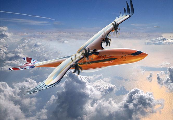 Фото №1 - Airbus на полном серьезе презентовал концепт авиалайнера с крыльями, как у орла
