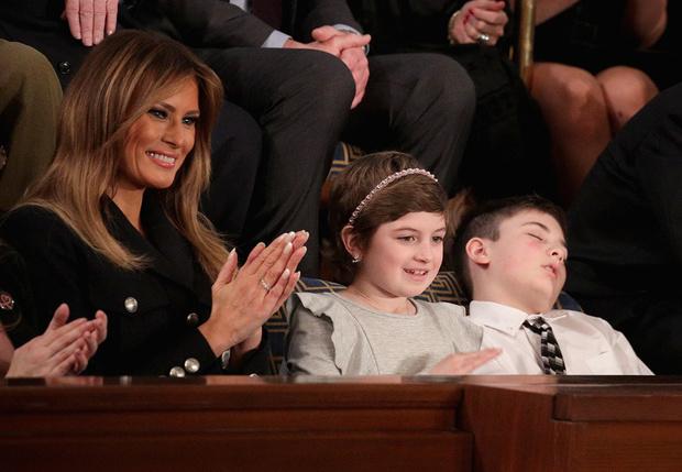 Фото №1 - Школьник по фамилии Трамп проснулся знаменитым, заснув во время выступления Дональда Трампа
