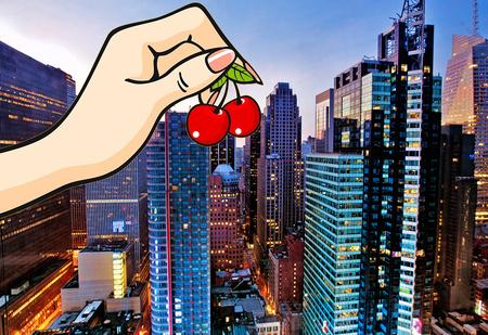 Можно ли убить человека вишневой косточкой, сброшенной с небоскреба?