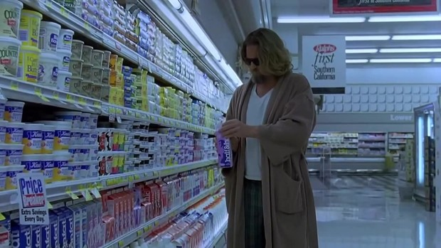 кадр из фильма большой лебовский