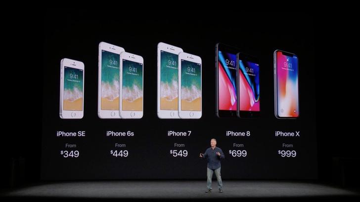 Цена нового айфона: от $999 за 64Гб. Предзаказ — 27 октября, старт продаж — 3 ноября.